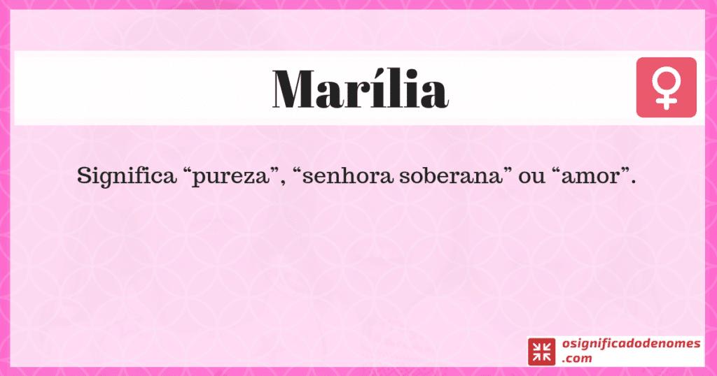 Significado de Marília