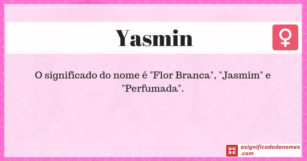 Significado de Yasmin