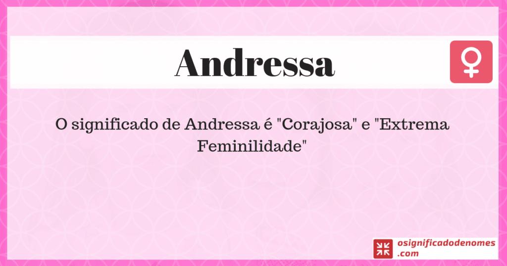 Significado de Andressa