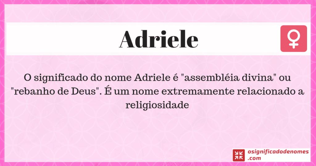Significado de Adriele