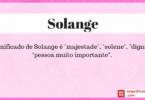 Significado de Solange
