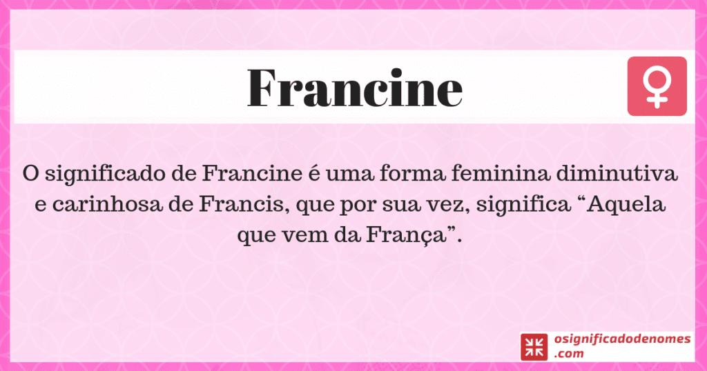 Significado de Francine